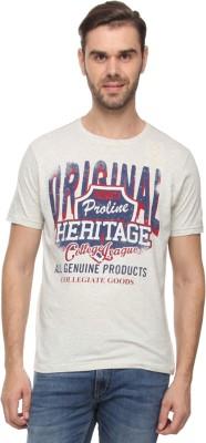 Proline Printed Mens Round Neck Blue T-Shirt