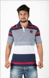 Prateek Retail Striped Men's Polo Neck B...