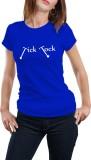 Girlful Printed Women's Round Neck Blue ...