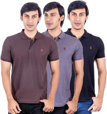 X-Tint Solid Men's Polo Neck Multicolor T-Shirt