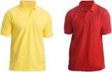Silver Swan Solid Men's Polo Neck Yellow...