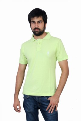 The Casanova Solid Men's Polo Green T-Shirt