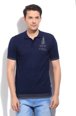 Arrow Newyork Solid Men's Polo Blue T-Shirt