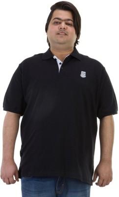 BIGBANANA Solid Men's Polo Black T-Shirt