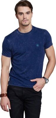 Route 66 Solid Men's Round Neck Dark Blue T-Shirt