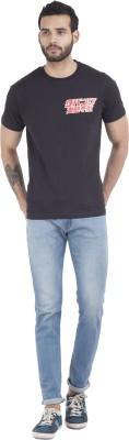 Iine Printed Men's Round Neck Red T-Shirt