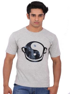 Rat Trap Printed Men's Round Neck Grey T-Shirt