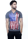 Masculino Latino Printed Men's V-neck Re...