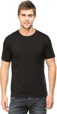 Tee Talkies Solid Men's Round Neck Black T-Shirt