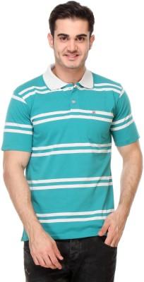 Rose Taylor Striped Men,s Polo Blue T-Shirt