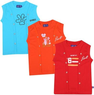 SPN Garments Printed Girl,s Round Neck Blue, Orange, Red T-Shirt