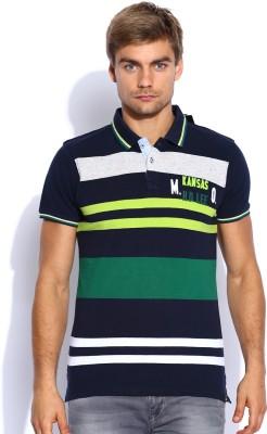 Lee Striped Men's Polo Neck T-Shirt