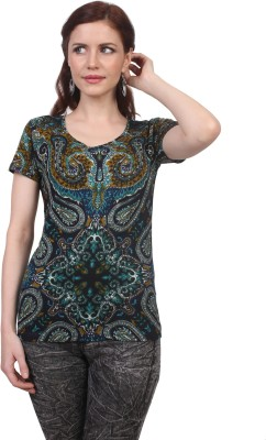 Viral Lifestyle Printed Women's Scoop Neck Multicolor T-Shirt
