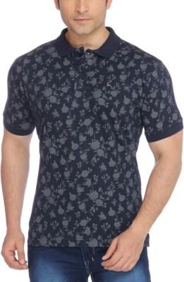 Parx Printed Men's Flap Collar Neck T-Shirt
