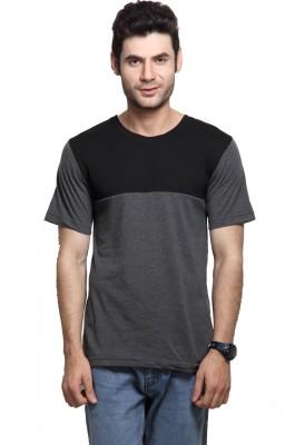 Rigo Solid Men's Round Neck Grey T-Shirt