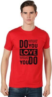 Stylexo Printed Men's Round Neck Red T-Shirt