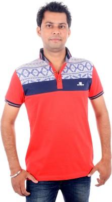 Brandwear Printed Men's Polo Neck Red T-Shirt