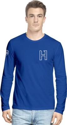 Hueman Printed Men's Round Neck Blue T-Shirt