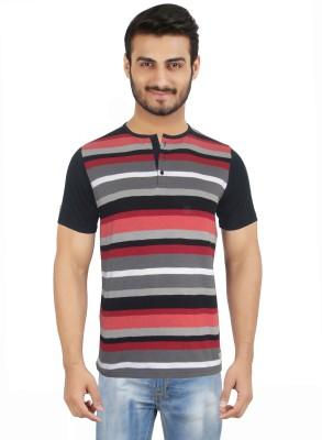 Hoodz Striped Men's Henley Multicolor T-Shirt