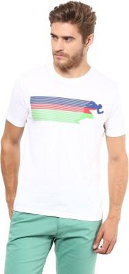 FUNK Printed Men's Round Neck White T-Shirt