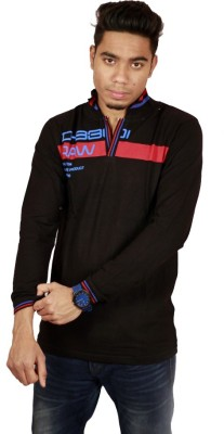 Etyhas Collections Solid Men's Polo Neck Black T-Shirt