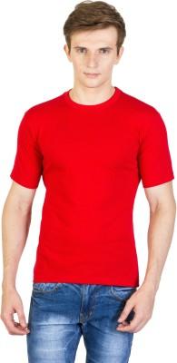 Rexler Solid Men's Round Neck Red T-Shirt