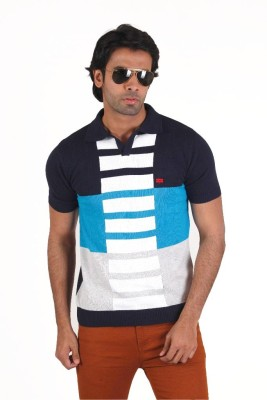Fulon Striped Men,s Polo Neck T-Shirt