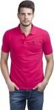 Trendy Bandey Solid Men's Polo Neck Pink...
