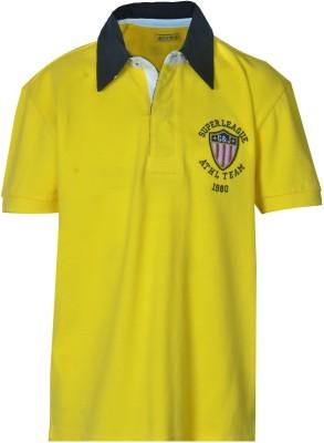 Gini & Jony Solid Boy's Polo Yellow T-Shirt