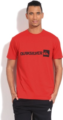 Quiksilver Solid Men's Round Neck Red T-Shirt