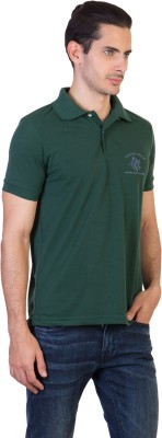Green Wich United Polo Club Solid Men's Polo Neck Dark Green T-Shirt
