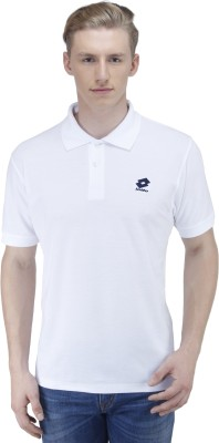 Lotto Solid Men's Polo Neck T-Shirt