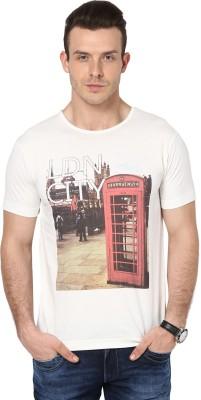 Cherymoya Printed Men's Round Neck White T-Shirt