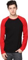 Izinc Solid Men's Round Neck Black T-Shirt