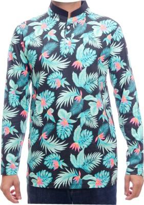 Shootr Floral Print Men's Fashion Neck Multicolor T-Shirt