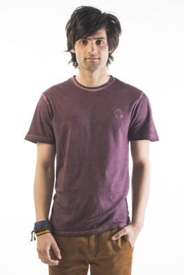 Srota Solid Men's Round Neck Red T-Shirt
