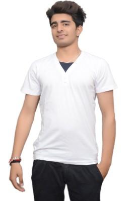 Gupta Polyplast Solid Men's V-neck T-Shirt
