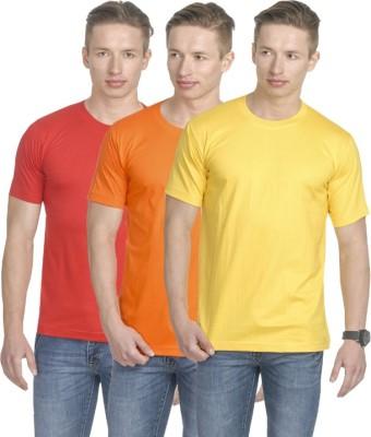 Fundoo-T Solid Men's Round Neck Multicolor T-Shirt