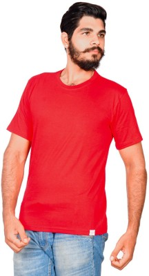 Indian Royals Solid Men's Round Neck Red T-Shirt