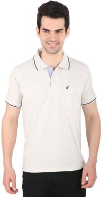 Illicit Nation Solid Men's Flap Collar Neck Grey T-Shirt