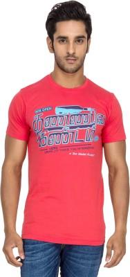 Tee Kadai Printed Men's Round Neck Pink T-Shirt