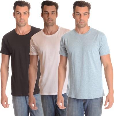 Comfty Solid Men's Round Neck Multicolor T-Shirt