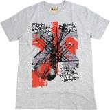Kaey Graphic Print Men's Round Neck Grey...