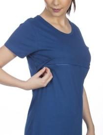 Goldstroms Solid Women's Round Neck Light Blue T-Shirt