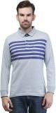 Seaboard Striped Men's Polo Neck Grey, D...