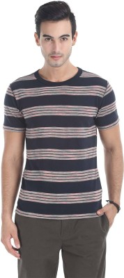 Zobello Striped Men's Round Neck Multicolor T-Shirt