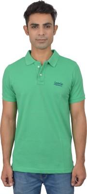 London Eye Solid Men,s Polo Neck Light Green, Blue T-Shirt