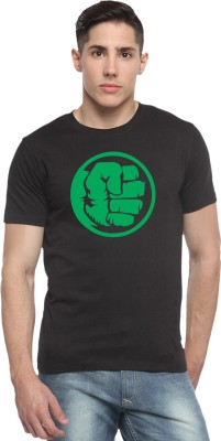 Sharq Printed Men's Round Neck Black T-Shirt