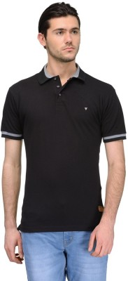 Canary London Solid Men's Polo Black T-Shirt