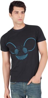 Webmachinez Graphic Print Men's Round Neck Black T-Shirt